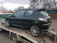 "2006 Peugeot 206 petrol Breaking 17"" alloys Lexus lights all parts cheap"
