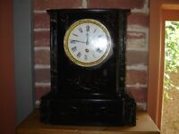Victorian slate and marbel clock (needs attention)