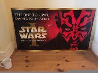 Collectible Official Star War Episode 1 Movie Poster – Darth Maul