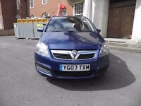 VAUXHALL ZAFIRA NEW SHAPE 2007 12 MONTHS MOT UNTIL AUGUST 2017 STUNNING FOR AGE