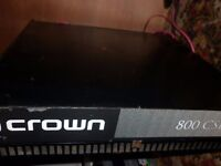 "Amplifier CROWN 800 w £90 ( 2 x Double 12"" Full range speakers also available..)"