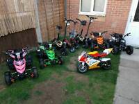 Quads, scooters and mini motos from £80
