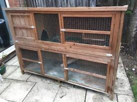 Two storey Rabbit hutch 180cmx130cm