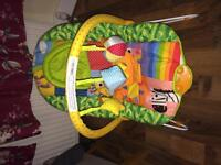 Vibrating baby bouncer USED TWICE