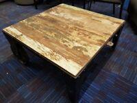 Ex Showroom Industrial Sqaure Coffee Table RRP £499