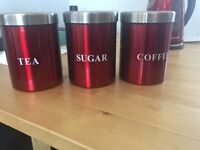 Tea, Coffee & Sugar Containers
