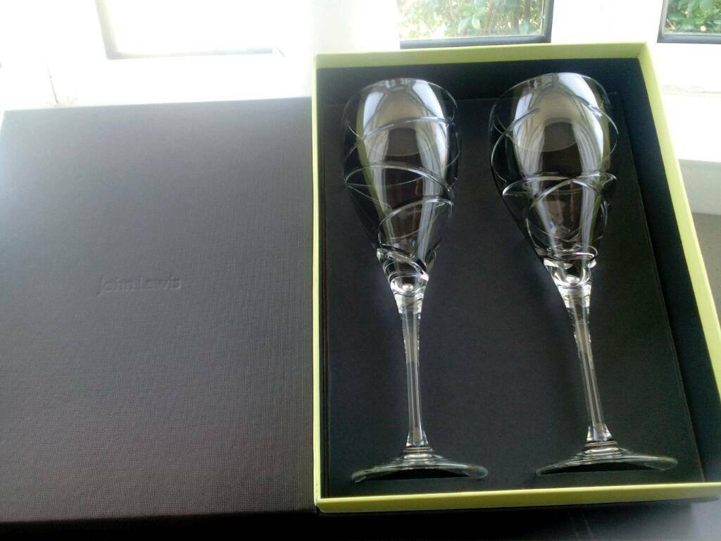 Lead crystal wine goblets