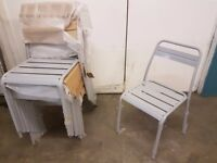 6x Metal Grey Chairs Kitchen/Dining/Garden BRAND NEW High Quality!! £20.00 EACH
