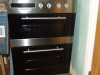 double oven and glass hob