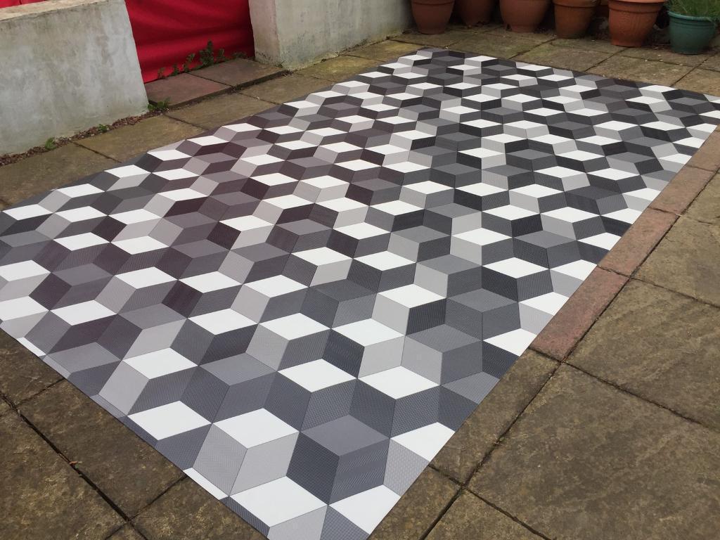 Vw T4 T5 Vito Camper Day Van Vinyl Flooring Cubist Geometric
