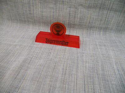 JägermeisterTischaufsteller mit Rudi Logo