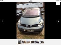 Renault Espace MPV automatic SCRAP OR SPARES ONLY