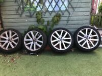 VW wheels with low profile tyres