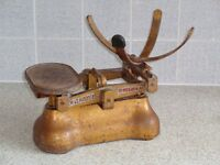 Old set of scales, with missing parts.