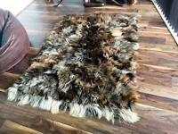 Genuine goat skin rug