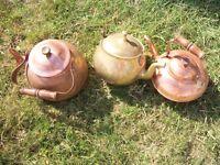 3 Brass items 2 Kettles & 1 Teapot, Area Dereham