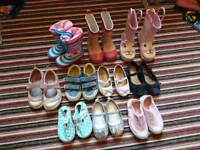 10 pairs - girls toddler shoes