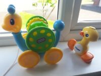Baby toys- snail and duck 2 pound only