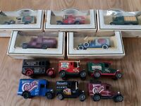 Set of 10 collectible Lledo vans in various Walkers Crisps liveries - 5 boxed
