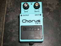 Boss CE-2 Chorus pedal vintage black label 80s made in japan