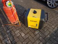 LPG/Petrol Duel fuel generator, Kipor IG3000, silent, enclosed. 3kw