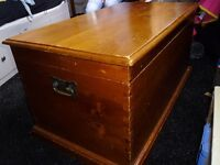 Solid hardwood blanket/storage trunk - hand-crafted