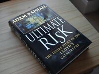 Book - Ultimate Risk SIGNED BY AUTHOR Adam Raphael. The inside story of the Lloyd's catastrophe