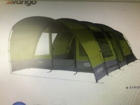Vango Anteus 600 tent with front extension, lots of extras