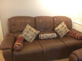Leather Brown Sofa recliner
