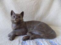 Rare! stoneware Poole pottery cat
