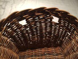 Wicker handmade bike basket for sale