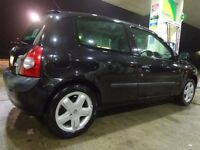 2004 black top spec renault clio 1.5 dci diesel+long mot+cheap tax only £20 a year+FREE DELIVERY