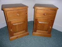 Pair Of Good Quality Solid Pine Bedside Cabinets