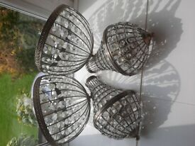 Set of 2 ceiling lights and a set of 2 wall lights