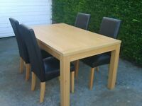 TABLE & 4 CHAIRS-LIKE NEW (NEAR MARKET WEIGHTON)