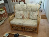 Cane Conservatory Furniture - Sofa and Footstool