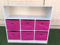 Girls 6 draw storage unit