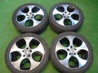 """18"""" MONZA ALLOY WHEELS AUDI TT MK1, A1, S1 VW GOLF MK4, BEETLE, BORA 5 x 100"""