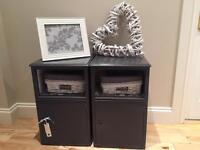 Bedside cabinets/ side tables / units grey / shabby chic