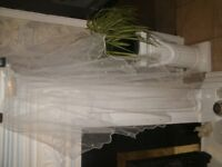"Wedding Dress, Tiara & Veil ""check photos"""