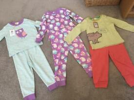 Never worn John Lewis girls pjs,trousers and top 12-18 months