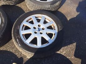 SET OF FORD WHEELS & TYRES 16""