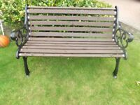 Traditional Cast iron Garden bench Like New