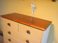 Large Pine Chest Of Drawers Painted Country Farmhouse