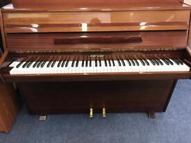 Zender Upright Piano Mahogany Gloss Great Starter Compact Piano