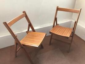 WOODEN COLLAPSIBLE CHAIRS