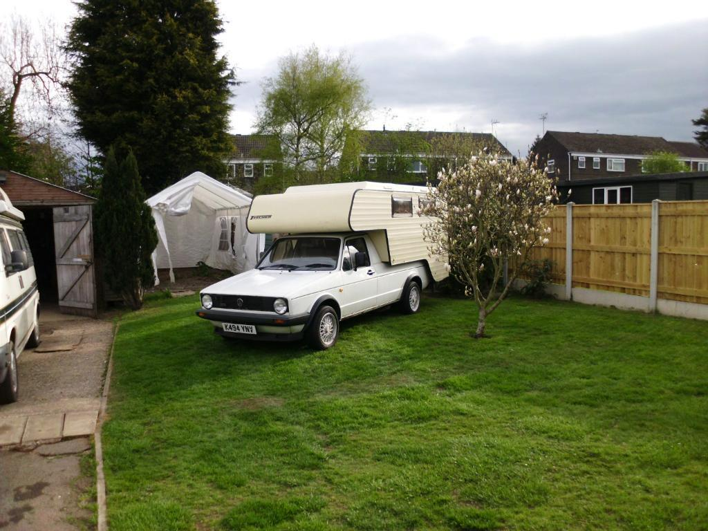 VW Caddy mk1 with Tischer demountable camper body