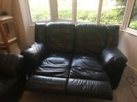 FREE 2 seater leather recliner sofas x2