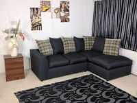 **SPECIAL OFFER** BRAND NEW ELEGANT LUXURY CHARLES MIDNIGHT (3+2) SOFA SET OR CORNER SOFA