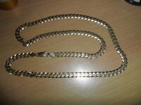 "9ct yellow gold 22"" curb link chain"